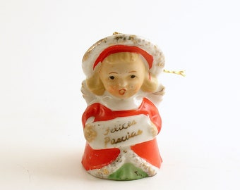 Vintage Christmas Angel Bell Angel Ornament