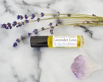 Lavender Love Gemstone Aromatherapy for Healing, Universal Healing Scent - Organic Aromatherapy Potion, Blemishes, Sleep-aid, Chakra Balance