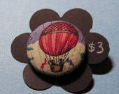 Steampunk style hot air balloon sewing buttons vintage fabric