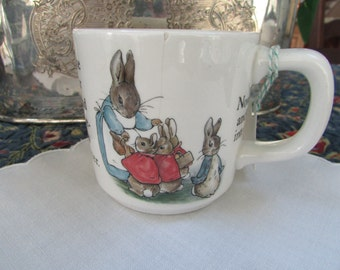 VINTAGE - From England - Wedgewood Beatrix Potter Bunnikins Mug