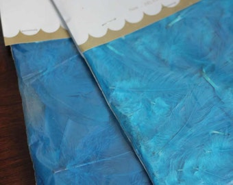 FEATHERS - AQUA - goose feather fluff - large coquille - 1 bag - Aleene's - Craftmaker