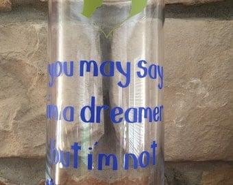 Dreamer John Lennon Imagine lyrics glass vase