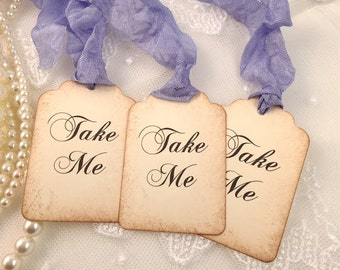 Lavender Take Me Tags Alice In Wonderland Party Favor Tags