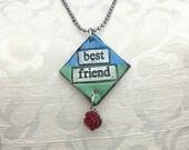 BEST FRIEND Ceramic Necklace