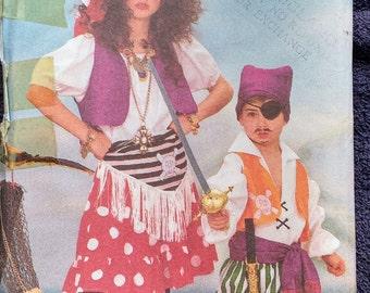 Butterick Childrens Pirate Gypsy Costume Pattern 6730