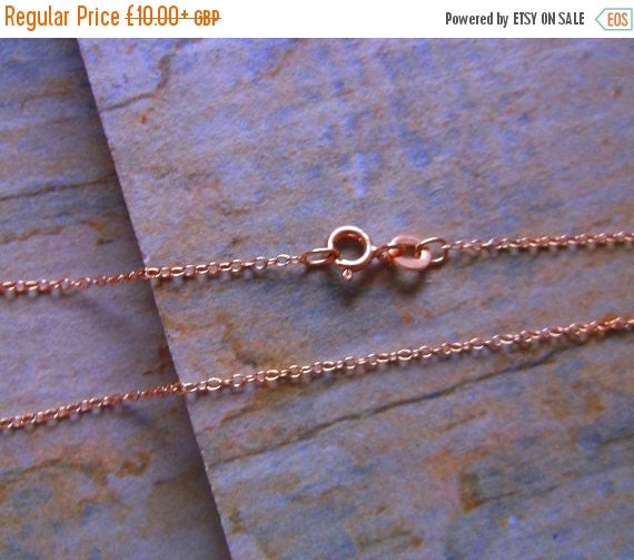 September Offer Rose Gold Vermeil Fine Trace Chain, 16 inch or 18 inch
