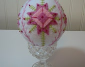 Hand Stitched Wool Easter Egg - Home Decor - Easter Decor - fiber Art Egg - Easter Egg - Hand Stitched Egg - Holiday Decor - Pysanky Egg