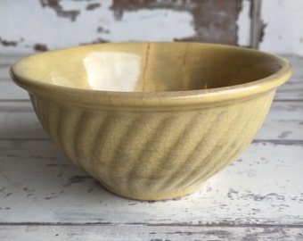 Vintage Watt Pottery Bowl Yellow - Extra Small - As is