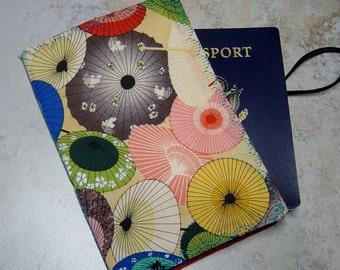 Passport Wallet, Parasol Print Fabric Wallet, Travel Gift,Passport Case, Passport Storage, Graduation Gift, Travel Organizer,Travel Wallet