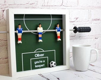 Table Football Personalised Art - Printed Foosball Table Art - Fussball Wall Art - Gift for Him - Gift for Dad - Football Mad - Football