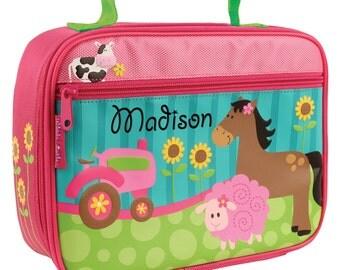 Personalized Lunch Box Farm Girl Stephen Joseph Children Girl Toddler