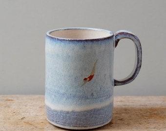 Tall Blue Diver Mug