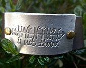 Adventure is out there Adjustable Leather Bracelet Festival Boho Life
