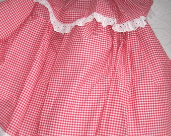 petticoat . red checker petticoat . square dance skirt . vintage petticoat . florell . 50's rockabilly skirt . red gingham skirt