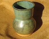 Handmade Pottery Medium - Vase - Green and Blue
