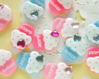 12 pcs Sweet Cupcake  Cabochon (16mm21mm) CD669