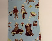 1-1/3 yards Sock Monkey Cotton Flannel Fabric.  60 inches wide