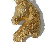 Vintage Horse Brooch Erwin Pearl Pin