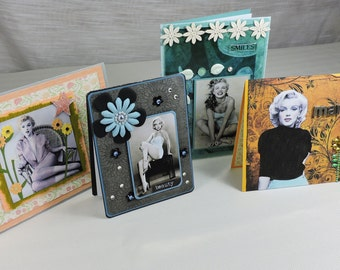 Handmade Greeting Cards, Marilyn Monroe 4 Cards