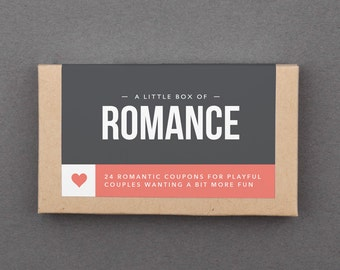 "1 Year Anniversary Gift for Her, Him, Boyfriend, Girlfriend, Wife, Husband. Love Coupons. First Paper Anniversary Gift. ""Romantic"" (L2ROM)"