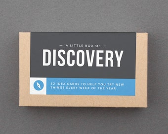 """Creative Birthday, Mother's, Father's Day Gift. Try New Things, Adventure, Fun, Explore. 52 Idea Cards. For Him or Her. """"Discovery"""" (L5DIS)"""