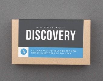 "Birthday Gift for Girlfriend, Friend. Stocking Stuffer. Fun, Adventure, Fun, Play, Explore, Try. Idea Box. Fast Shipping. ""Discover"" (L5DIS)"
