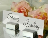 Place card holders + Silver Place Card Holders + Silver Wedding Place Card Holders (Set of 75)