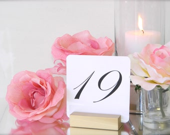 Table Number Holder + Gold Wedding Table Number Holders (Set of 10)
