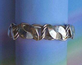 Vintage 60s Modern Gold Tone Bracelet