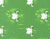 Sarah Jane , Michael Miller Sommer Pre-Sale, Sommer Swan, Grass - 1/2 Yard-Free Shipping in the USA with orders over 50 dollars
