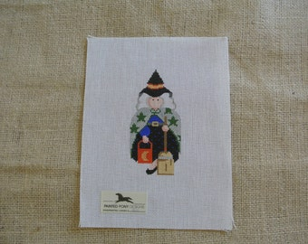 Halloween Witch Needlepoint
