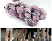 Ballet Rehearsal - First Class MCN - Luxury Sock Yarn - Merino Cashmere Nylon Blend - Ballet Pink Yarn - Pink and black speckles
