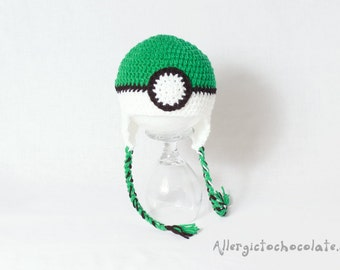 Pokemon Hat, Handmade Hat, Kids Hat or Accessories, Photography Prop, Red, Pokemon Ball, Pikachu, Christmas, Stocking stuffer