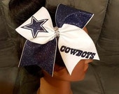 Texas Dallas Cowboys Star NFL Football School Spirit Cheer Bow Hair Accessory