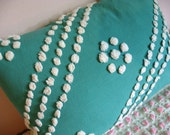 Vintage Chenille Emerald Green Pillow