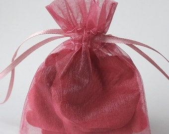 Valentines Day Sale 12 Pack Sheer Organza Drawstring Bags  2.75 X 4 Inch Size Great For Gifts, Favors, Sachets, Weddings