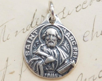 St Mark Medal - Patron of lawyers and notaries - Antique Reproduction