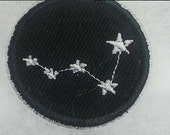 Cassiopiea Constellation Iron On Badge or Patch Glow in the Dark