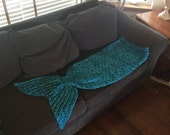 Mermaid Tail Lapghan Blanket for Age 6 to 10 -- One of a Kind -- Ready to Ship!