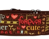 Colorful Words  Martingale Collar