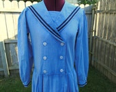 RESERVED for Holly Vintage Laura Ashley Chambray Sailor Dress