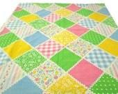 vintage quilt patchwork cotton full flat craft cutter sheet
