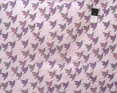 Alice Hickey PWAY004 Cottage Garden Hummingbird Lavender Cotton Fabric By Yard