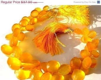 55% OFF SALE 1/2 Strand AAA Sunset Yellow Chalcedony Faceted Heart Briolettes Size 10mm to 12mm approx Yellow Chalcedony heart briolettes