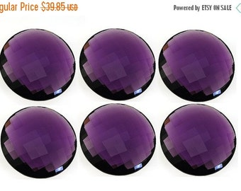 50% Off Valentine day 1Pcs Hydro Amethyst Faceted Coin Briolettes 25x25mm approx