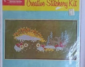 Vintage Quinella Rock Garden Crewel Embroidery Kit