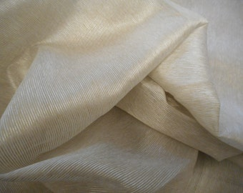 Beige/Natural Sheer Fabric