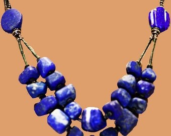 Vintage Sodalite Double-Tiered Necklace
