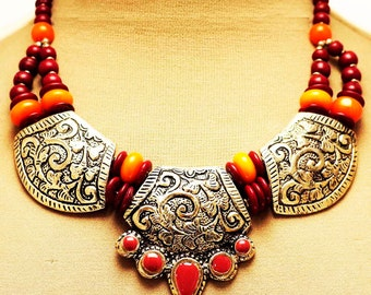 Vintage Ethnic Colorful Necklace