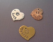 Add-on Heart - Hand-Stamped Name Heart - Personalized Heart - Personalized Name Stamps - S229